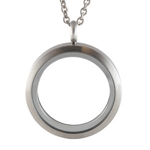 Picture of Large Matte Silver Locket